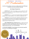 Proclamation City of Pittsburg 2001