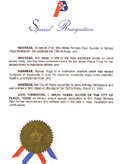 Special Recognition From Mayor Of The City Of Plano, Texas